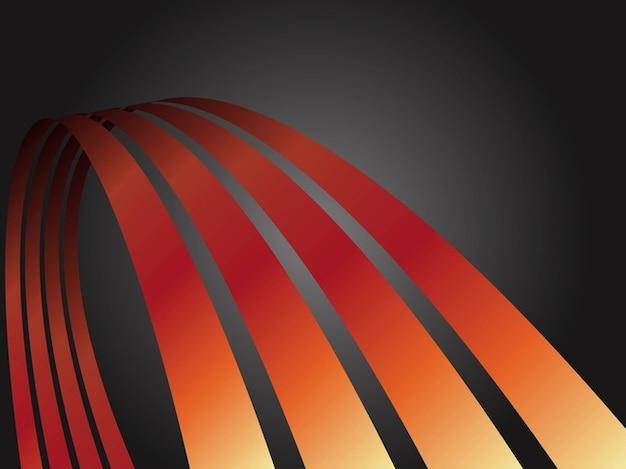 Gradienten dekorativen kurven vektor pack