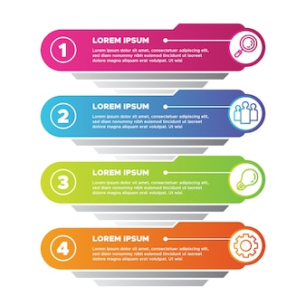 Gradienten-infografik-konzept
