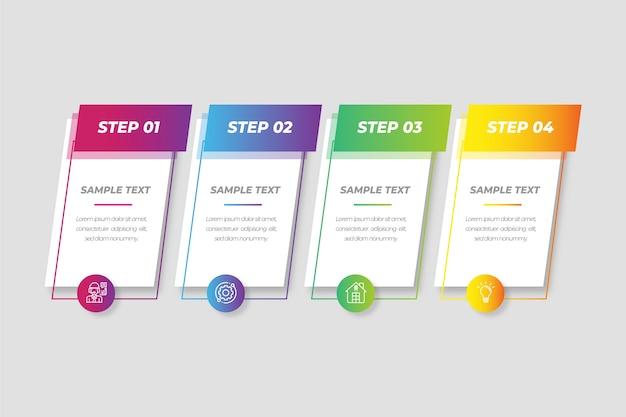 Gradienten-infografik-sammlungskonzept