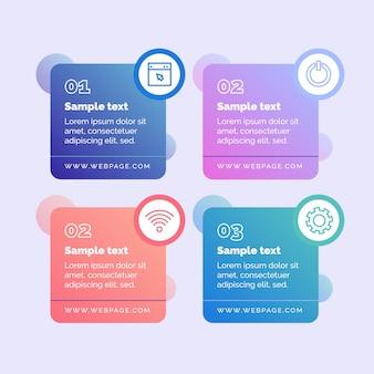 Gradienten-infografik