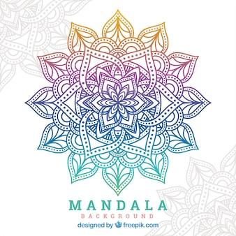 Gradienten mandala hintergrund