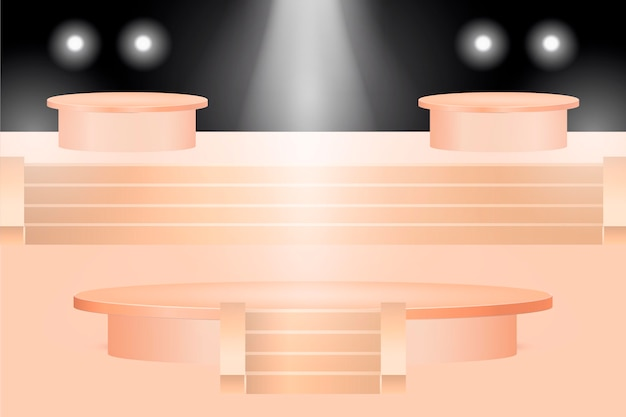 Gradienten-podest-design in 3d-rendering