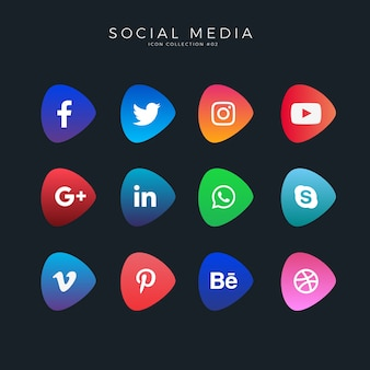 Gradienten social media icons