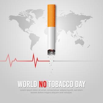 Gradientenwelt keine tabak-tagesillustration Kostenlosen Vektoren
