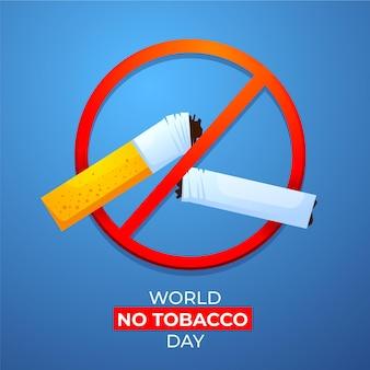 Gradientenwelt keine tabak-tagesillustration