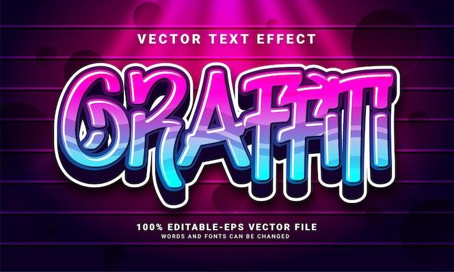 Graffiti 3d-texteffekt, bearbeitbarer text und bunter textstil