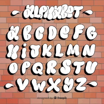 Graffiti-alphabet