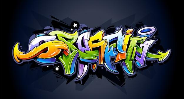 Graffiti-design an der wand