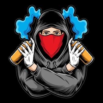 Graffiti mann illustration