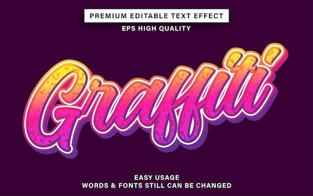 Graffiti mit texteffekt