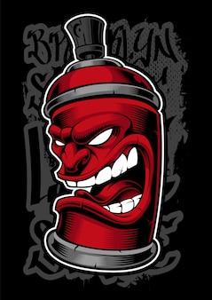Graffiti-spray-monster.