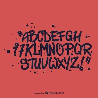 Graffiti-stil alphabet buchstaben