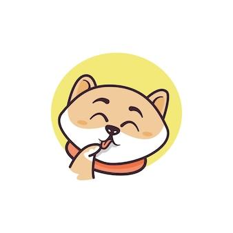 Grafik der glücklichen katzenmaskottchenillustration, perfekt für logo, symbol oder maskottchen