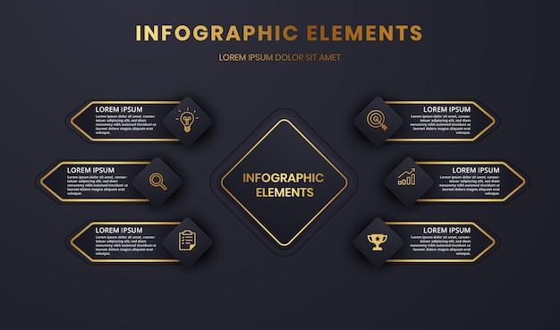 Grafik der präsentations-infografik-vorlage