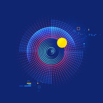 Grafik des abstrakten auges mit futuristischem element