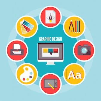 Grafik-design-element-komposition