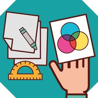 Grafik-design-konzept