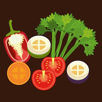 Grafik für gesundes essen