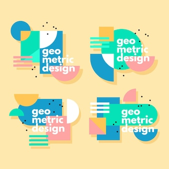 Grafikdesign-etiketten im geometrischen stilkonzept
