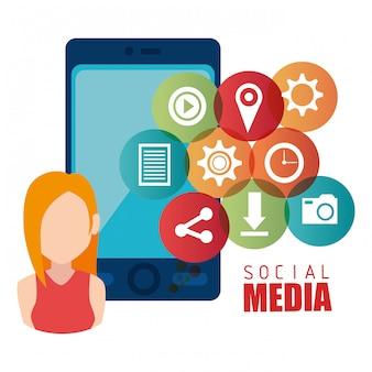 Grafikdesign für soziale medien und unterhaltung