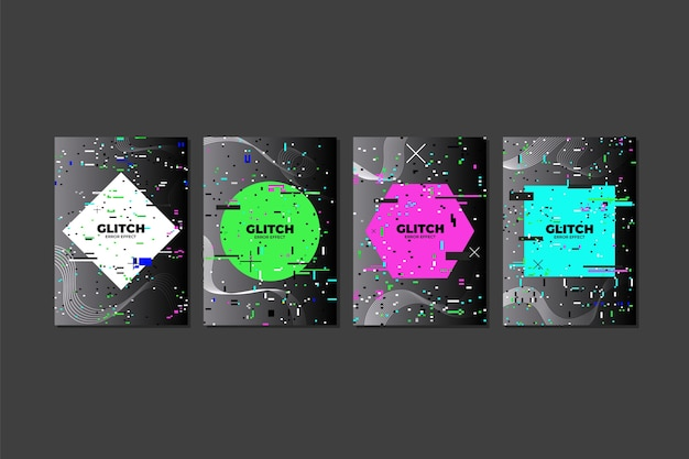 Grafikdesign glitch cover kollektion