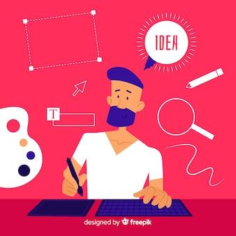 Grafikdesign idee konzept