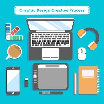 Grafikdesign kreativer prozess