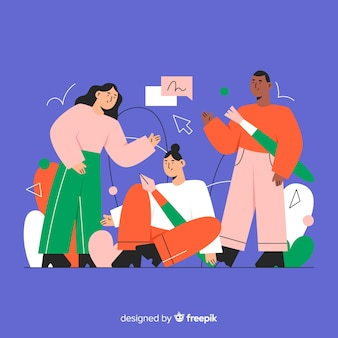 Grafikdesign-teamwork-hintergrund