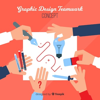 Grafikdesign-teamwork-konzept