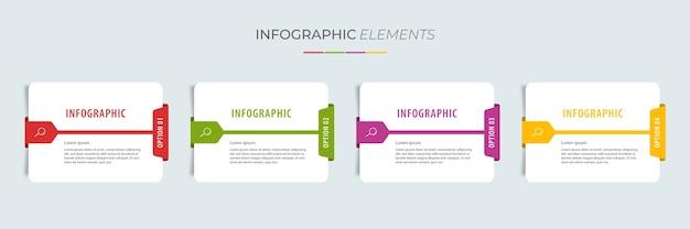 Grafikdesign-vorlage für karteninformationen mit optionen