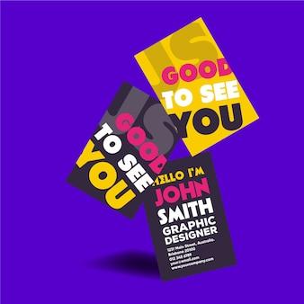 Grafikdesigner-visitenkarte mit beschriftung