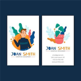 Grafikdesigner-visitenkartenvorlage