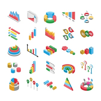 Grafikdesigns flache icons pack