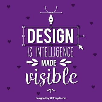 Grafikdesignzitat mit inspirierend mitteilung