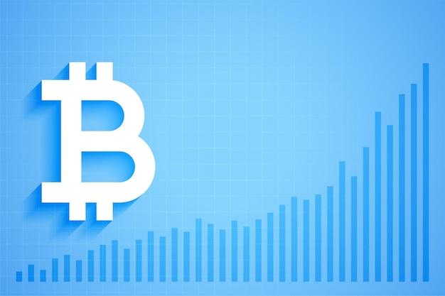 Grafikdiagramm für das wachstum der digitalen kryptowährung von bitcoin