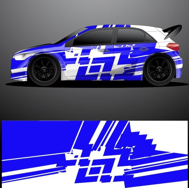 Grafikfolie für rallye-autoaufkleber