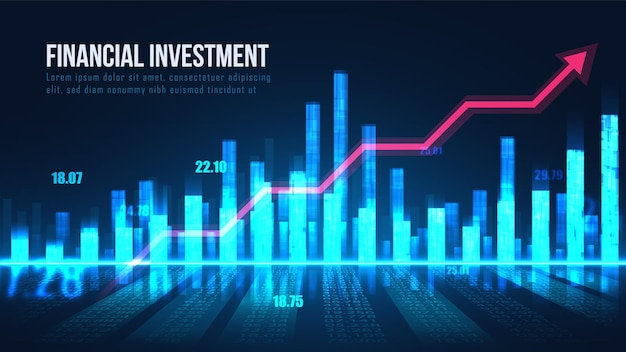 Grafikkonzept der börsenindikatoren