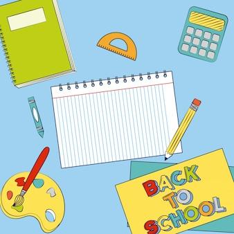 Grafikressourcen von zurück in die schule