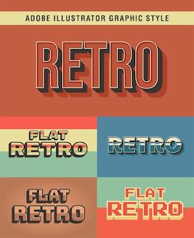 Grafikstil mit retro-texteffekt