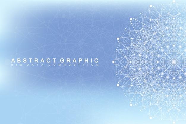Grafische abstrakte hintergrundkommunikation.
