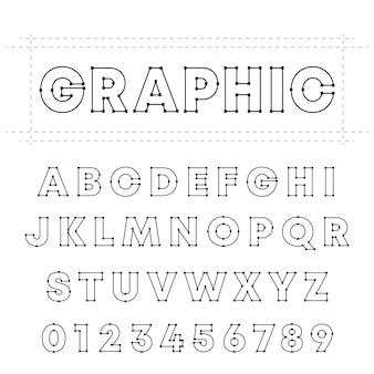Grafische alphabetschrift