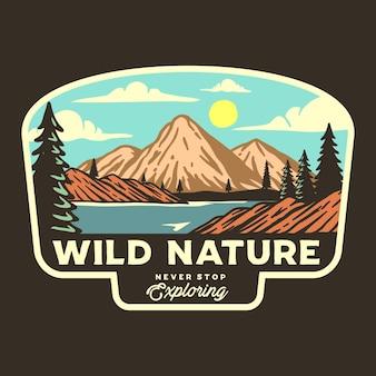 Grafische illustration der wilden natur