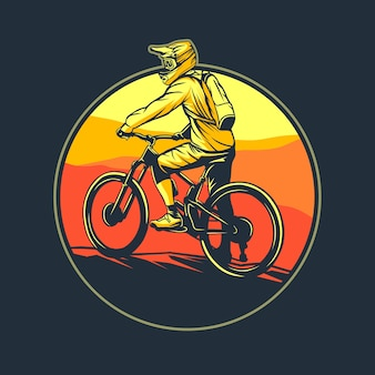 Grafische illustration des mountainbikes