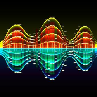 Grafische schallwelle, equalizer