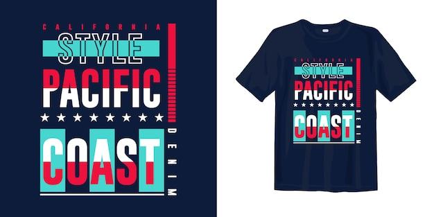 Grafische t-shirt-bekleidung der kalifornischen pazifikküste für druck