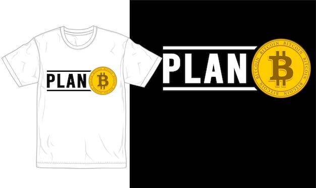 Grafische typografie und logo des bitcoin-t-shirt-designs