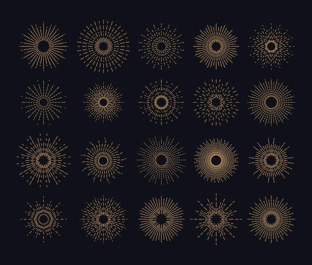 Grafischer sonnenscheinausbruch