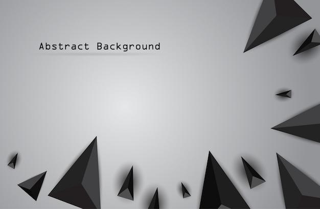 Grafisches geometrisches muster mit verschiedenen schwarzen dreiecken