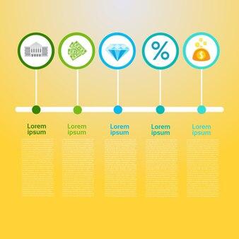 Grafisches gesetztes finanzierung infographic-ikonen-geschäfts-konzept