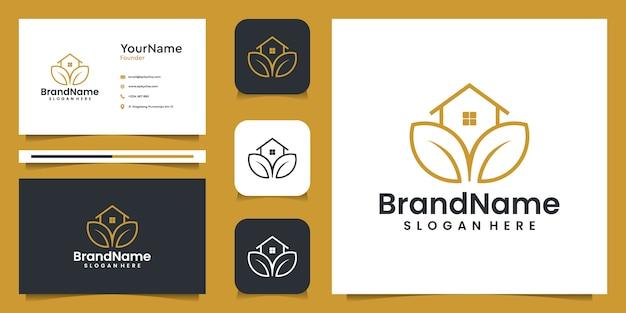Grafisches logo der landwirtschaftshausillustration mit visitenkarte. gut für branding, persönlichen gebrauch, anzeigen und geschäftliche zwecke